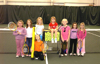 Junior group clinic sessions at the Enfield Tennis Club